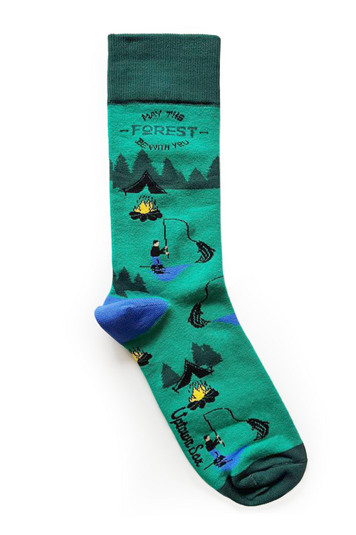 "Men's ""The Woodsman"" Cotton Crew Camping Socks by Uptown Sox"