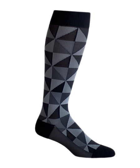 Vagden Men's Diamond Pattern Cotton Dress Socks (XL)