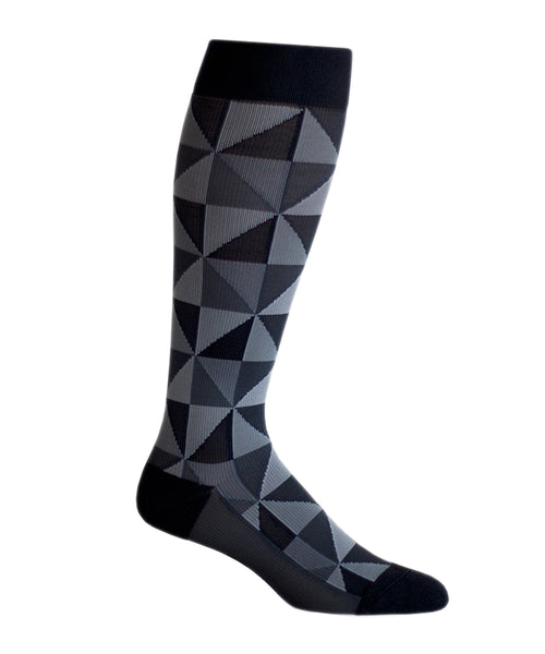 """Going Bare Black"" Polyester Compression Socks by Top & Derby (15-20 mmHg)"