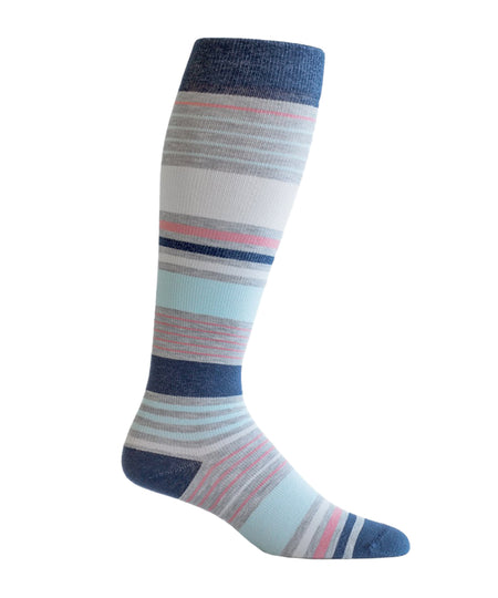 """Concord Crush"" Cotton Compression Socks by Top & Derby (15-20 mmHg)"