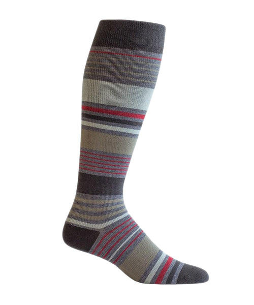 brown stripes compression socks