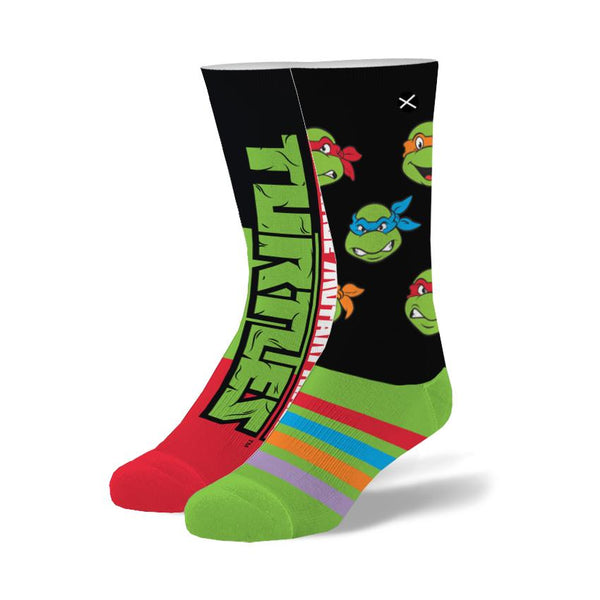 "Men's ""The Turtles"" Cotton Crew Socks by ODD Sox"