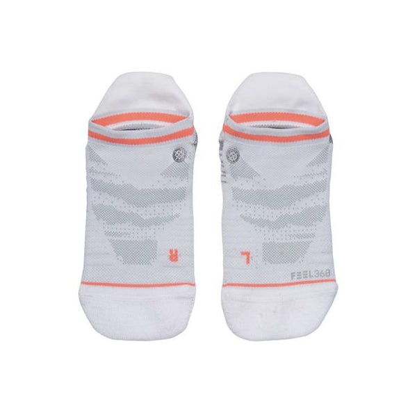 White invisible workout socks