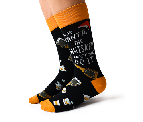 "Men's ""On the Rocks"" Cotton Crew Whiskey Socks by Uptown Sox"