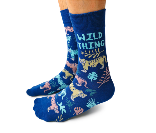 "Men's ""Wild Things"" Cotton Crew Socks by Uptown Sox"