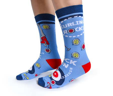 "Men's ""True North"" Cotton Crew Socks by Uptown Sox"