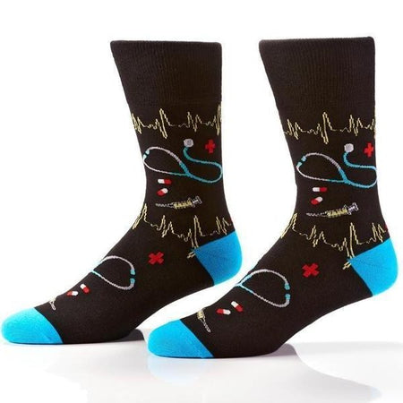 Men's Shark Dive Bamboo Athletic Socks by YO Sox