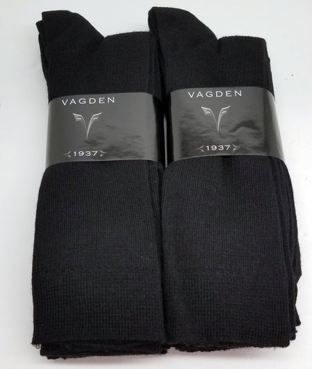 Vagden Men's Broad Rib Merino Wool Dress Sock (3 Pair) - CLEARANCE
