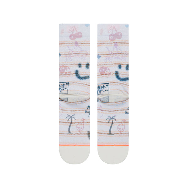 "Women's Stance ""Hippie Moshpit Crew Combed Cotton Socks"