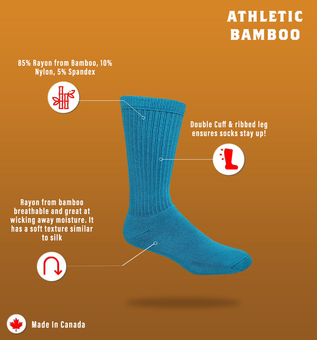 Bamboo Cushion-Sole Athletic Sock | J.B. Field's | Made in Canada – Great Sox