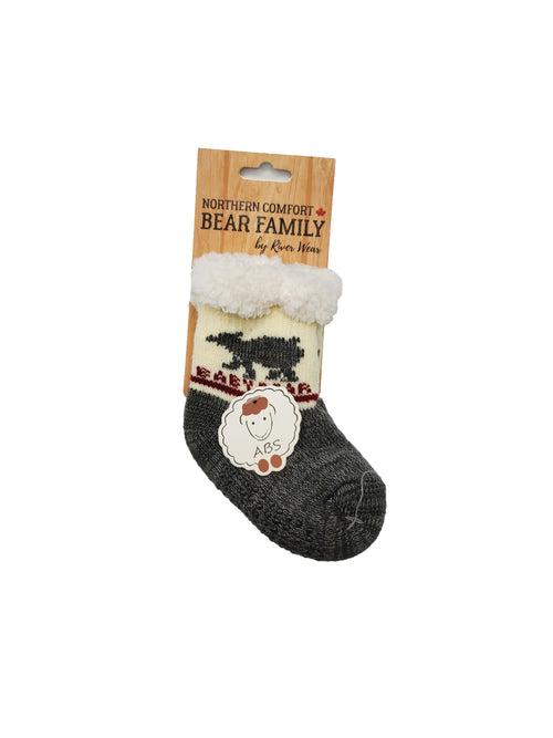 "Northern Comfort Infant's ""Baby Bear"" Sherpa-Lined Grip Slipper Socks"