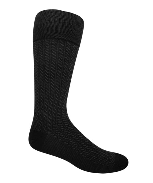 black extra large patterned socks