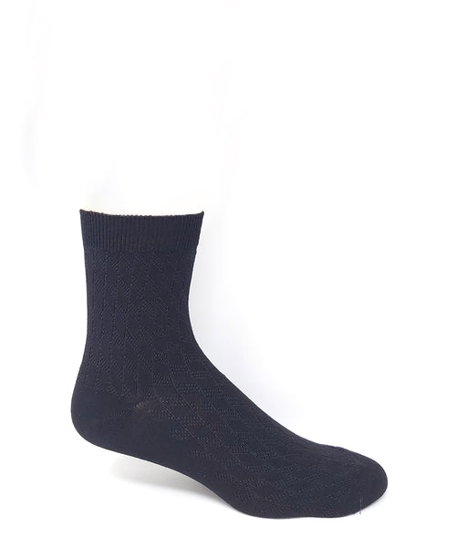 Vagden Men's Low-Cut Black Diamond Bamboo Socks