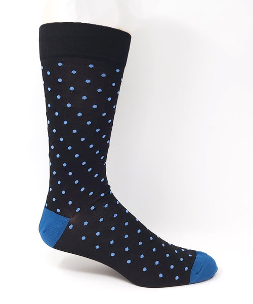 Vagden Men's Pin Dot Bamboo Dress Socks