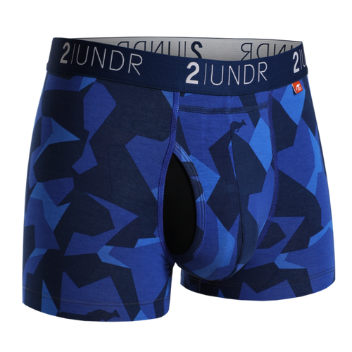 "2UNDR Swing Shift 6"" Boxer Brief - Blue Camo"