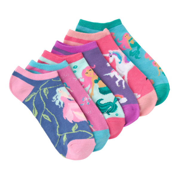 "Women's 6 Pack ""Mythical Creatures"" Crew Socks by K Bell"