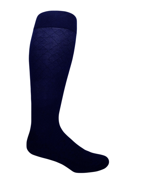 Blue extra large cotton socks