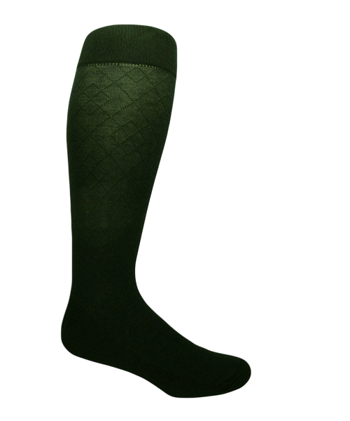Green extra large cotton socks