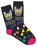 Women's Pardon My French Crew Socks by K Bell