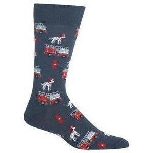"Men's ""Weed"" Cotton Dress Crew Socks by Hot Sox"