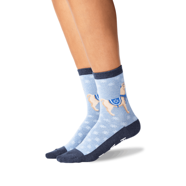 "Women's ""Happy Llamakkah"" Crew Socks by Hot Sox"