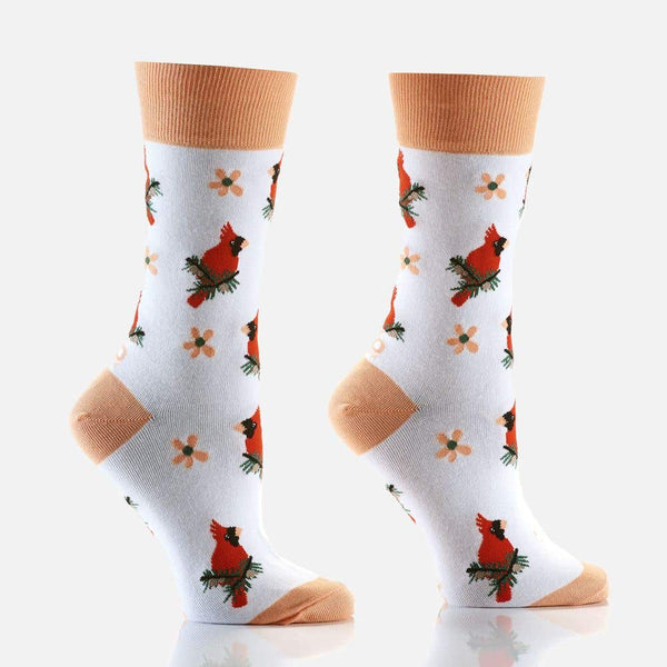 "Women's ""Cardinal Messages"" Crew Socks by YO Sox"
