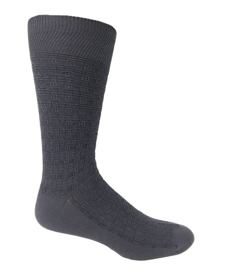 "Vagden Men's ""Houndstooth"" Bamboo Light-weight Dress Socks"