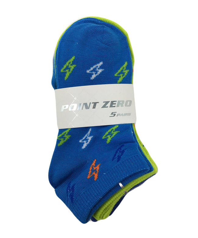 Kid's Assorted Lightening Socks - 5PK