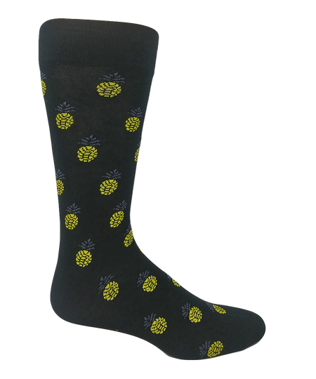 """Block Smoke"" Combed Cotton Socks by Ballonet"