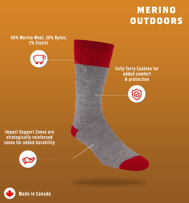 "J.B. Field's Bootgear ""Merino Outdoors"" Boot Sock"