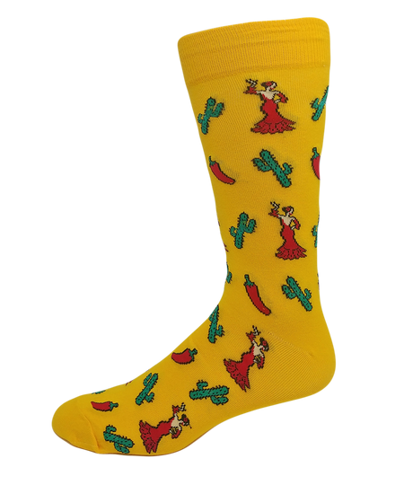 Men's Prehistoric Creatures Cotton Dress Crew Socks by YO Sox