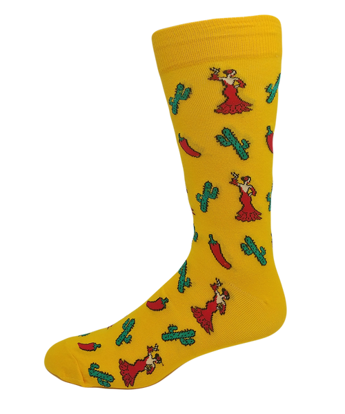 Men's Cotton Flamenco Dancer Socks by Crazy Toes