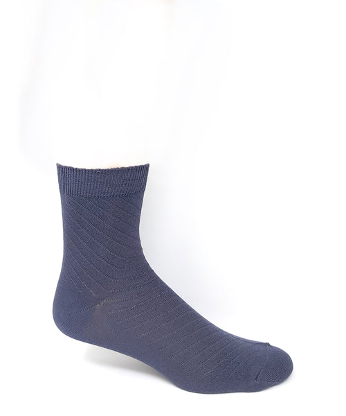 Vagden Men's Bamboo Low-Cut  Diagonal Stripe Socks