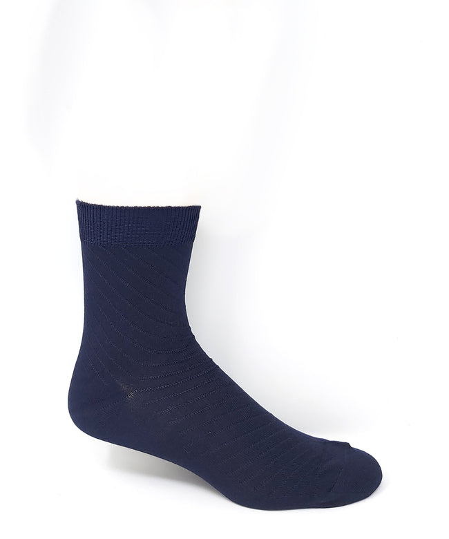 Vagden Men's Diagonal Stripe Quarter Bamboo Socks