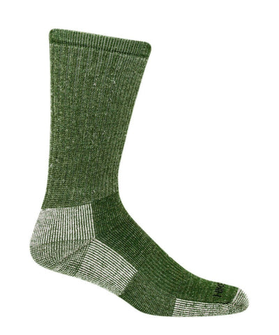 Green merino wool hiking socks