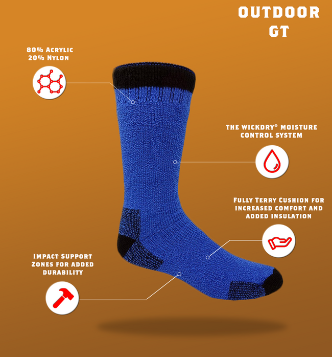 "J.B. Field's ""Outdoor GT"" Colourful Boot Socks"