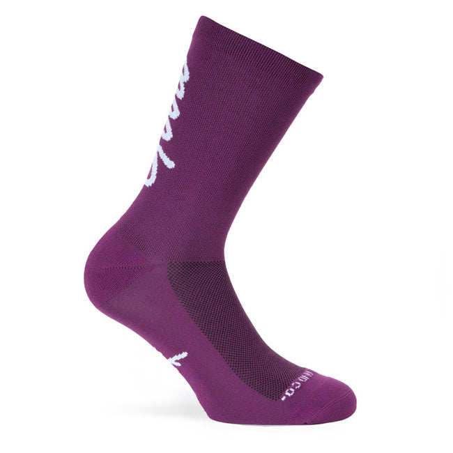 "Pacific & Co. ""Good Vibes"" Purple Cycling Socks (1 Pair)"