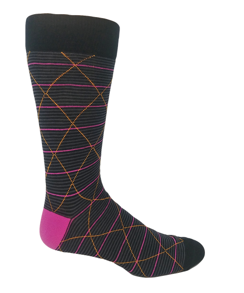 Pink patterned socks