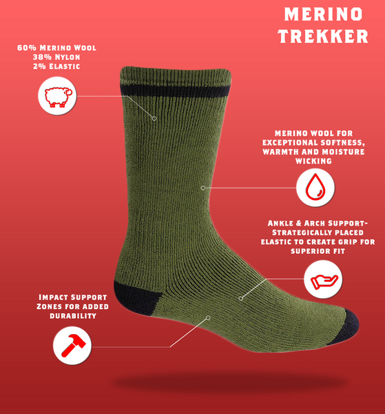 "J.B. Field's ""Merino Trekker"" Winter Thermal Boot Sock"