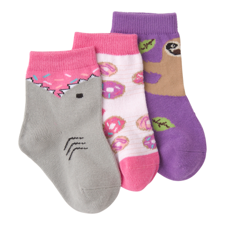 Infant's Mermaid Three Pair Crew Socks by K Bell