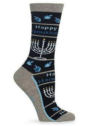Women's Happy Hanukah Crew Socks by Hot Sox