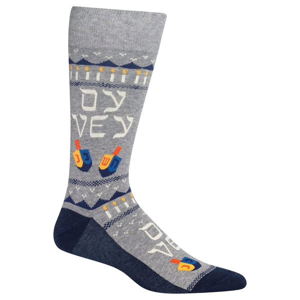 "Unisex ""Oy Vey"" Cotton Crew Socks by Hot Sox"