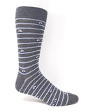 Vagden Men's Sailboat Grey Bamboo Dress Socks