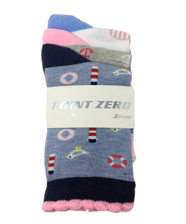"Kid's Assorted ""Summer Icon"" Socks - 3PK"