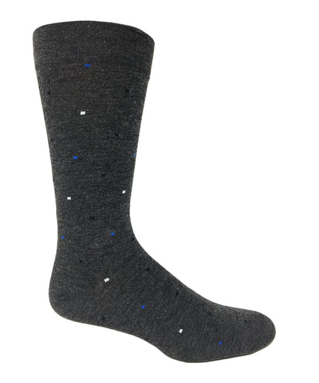 "Vagden Men's ""Triangle"" Bamboo Dress Crew Socks"