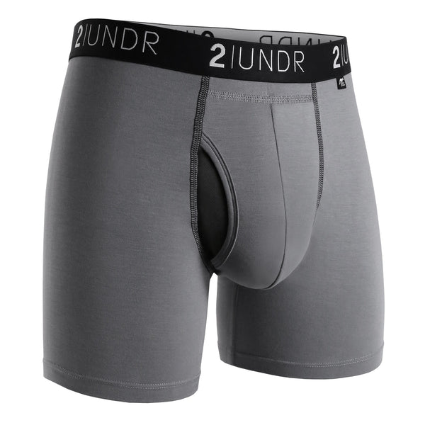 "2UNDR Swing Shift 6"" Boxer Brief - Grey"