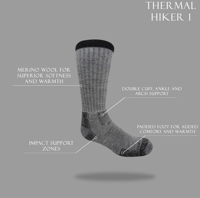 J.B.Field's Icelandic 'Thermal Hiker I' Merino Wool Thermal Sock