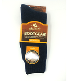 Black wool thermal boot sock