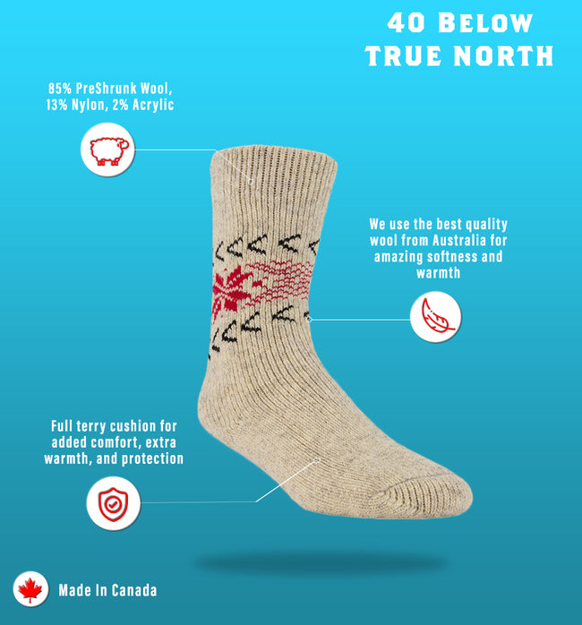 "J.B. Field's Icelandic ""40 Below True North"" Wool Sock"