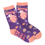 Women's Virgo Crew Socks by K Bell